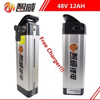 Высокое качество 48V 12AH литий ионная аккумуляторная батарея для электрических велосипедов (50 км) и 48V Power bank (бесплатное зарядное устройство)
