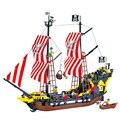 Modelo enlighten 308 870 unids series piratas negro perla kit de bloques de construcción ladrillos de juguetes educativos regalos compatible con lego