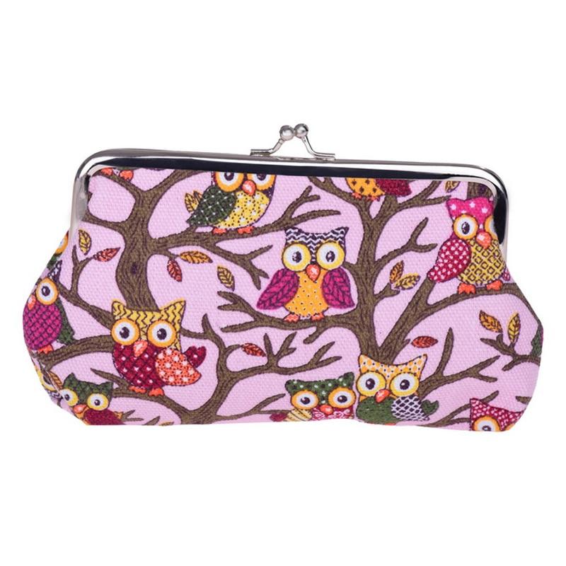 Cute Women Mini Owl Coin Purse Clutch Change Keys Hasp Bag Small Pouch Wallet Handbag Popular