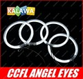 a set 4pcs 106mm CCFL Angel Eyes Halo Ring Halo Light cathode tube case for B.MW E46 2D(2003+) two doors GGG FREESHIPPING ued s
