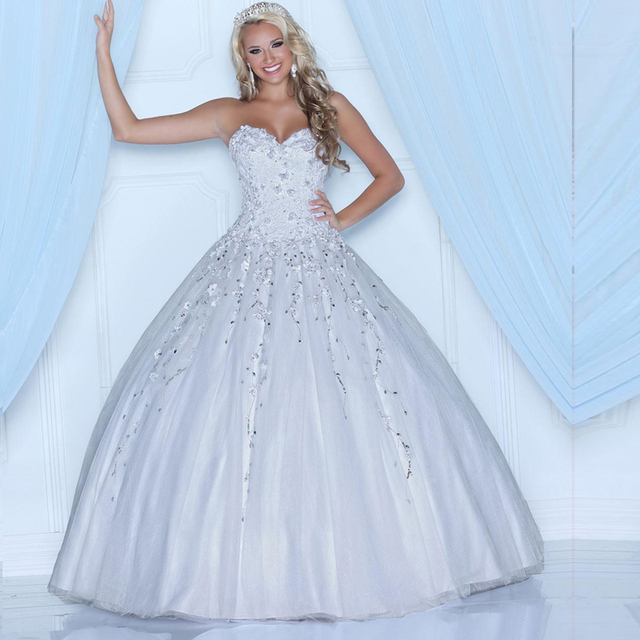 White Ball Gown Debutante Dress With Bolero Beading Lace Sweetheart ...