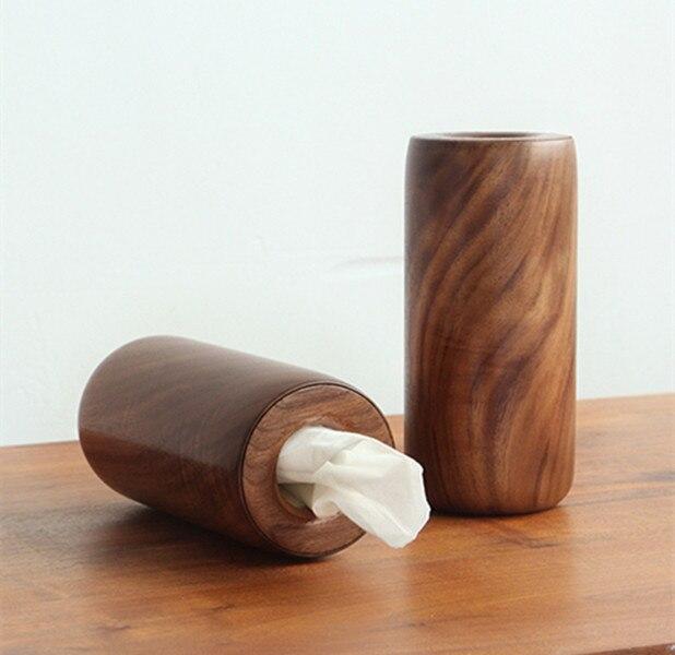 Japon style artisanat en bois décoration de ménage prendre des boîtes de mouchoirs en carton
