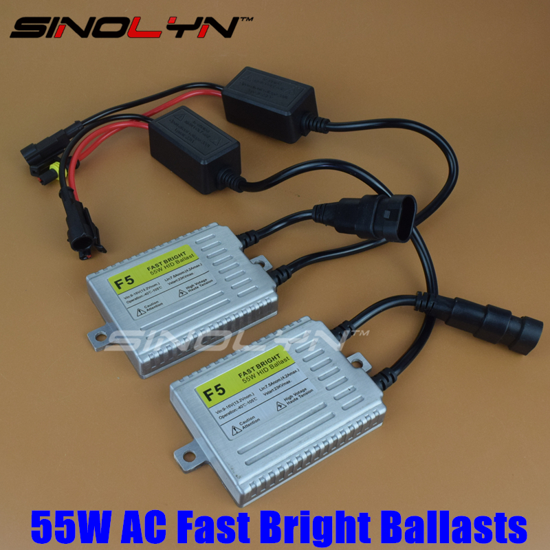 1 Pair 12V AC 55W Fast Bright Ballasts Quick Start Digital Slim Replacement Reactor Ignition Block
