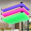Modernas Lámparas de Techo Led RGB LLEVÓ la Luz de Techo Luminaria 2.4G RF Remoto Dime Color Cambiante de La Lámpara para la Sala de estar Bedroommabl