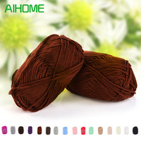High Quality 10pcs Milk Cotton Hand Knitting Yarn Colorful Soft Smooth Knitting Woolen Yarn Knitted For Scarves Blankets