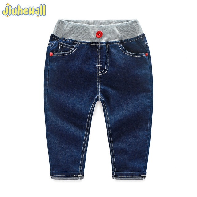 1832bd307 2017 Hot Sale Spring Autumn Boy Girls Jeans Casual Dark Blue Jeans For Baby  Children Cotton