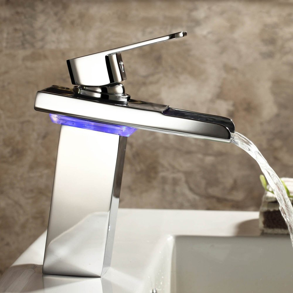 aliexpresscom  buy brand grifo robinet krano contemporary solid  - brand grifo robinet krano contemporary solid brass single handle widespreadwaterfall bathroom sink cheap led faucets chrome new