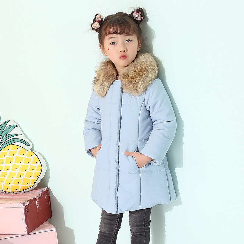 New 2017 Winter Girls Cotton Coat  Children Thicken Coat Baby Parkas Children's Outercoat Kids Padded Jacket,2-7Y,#2357 korean baby girls parkas 2017 winter children clothing thick outerwear casual coats kids clothes thicken cotton padded warm coat