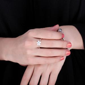 Image 4 - Jewelrypalace Elegante Daisy Weiß Emaille 925 Sterling Silber Ring Frühling Blumen Jahrestag Geschenk Frauen Mode Schmuck Neue
