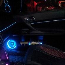 цена на JingXiangFeng 2m LED Cold lights Flexible Neon EL Wire Auto Lamps Car Cold Light Strips Line Interior Decoration Strips lamps