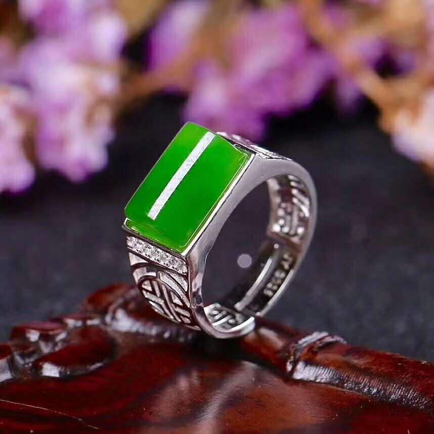 Tian Biyu Silver Inlay Ring New Women's Ring New   j7#