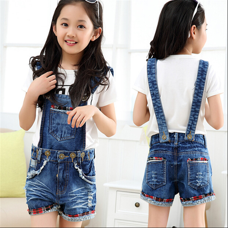 95b5fbad4da Children girl wear jeans overall for girls denim jumpsuit girls denim  overall kid girls baby jeans pants free shipping C10