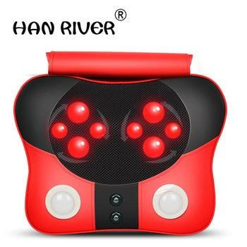 HANRIVER Massage Pillow Cervical Vertebra Massager Neck Waist Back Shoulder Massage Device Household Health Care Instrument