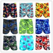 2019 Brand BREVILE PULLQUIN Turtles Beach Board Shorts Swimwear Bermuda Elastic Band Male Boardshorts Adults Plage Man Beachwear