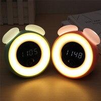 Smuxi Intelligent Sensor Mushroom Fungus LED Night Light Light Controlled Alarm Clock Gift Colorful Mushroom Night