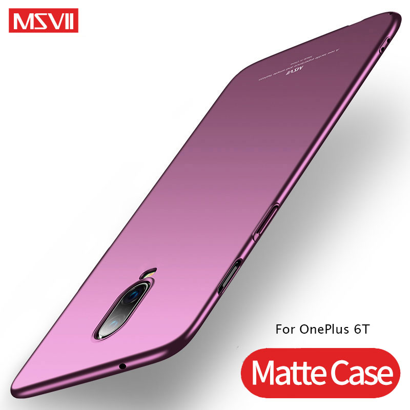 For <font><b>OnePlus</b></font> 6 T 5 T <font><b>Case</b></font> Cover MSVII Ultra Thin Matte Coque For <font><b>OnePlus</b></font> <font><b>5T</b></font> 6T <font><b>Case</b></font> Hard Back Cover One Plus 5 <font><b>5T</b></font> 6 6T 5 6 T <font><b>Case</b></font> image