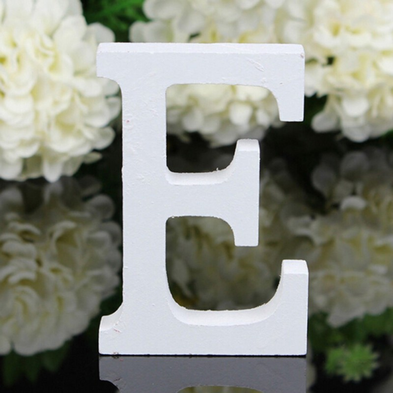 2019 1PC Creatively Wood Letter Figurines Miniatures Wooden Letters Alphabet Word Bridal Wedding Party Decoration Tool in Figurines Miniatures from Home Garden