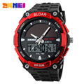 2017 New Relogio Solar energy Watch Men Sports Watches LED Digital Quartz Military Outdoor Dress Clock Wristwatches SKMEI 1049