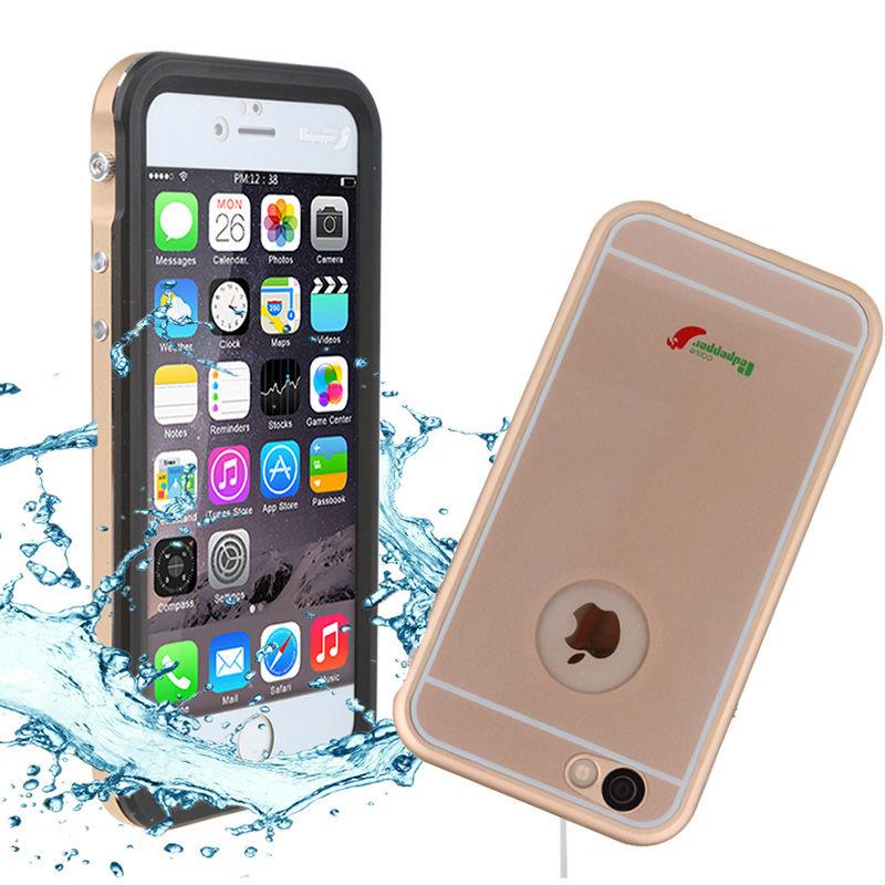 bilder für Redpapper IP68 Aluminium Wasserdichte Shockproof Unterwasser Metallgehäuse für iPhone 6 6 s Plus Telefon Abdeckung Coque Capinha