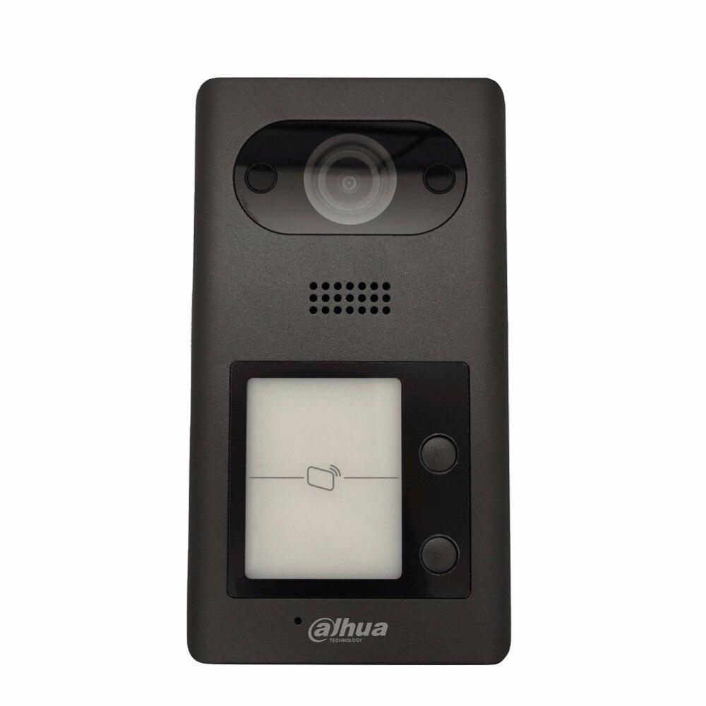 Ahua Multi-langue VTO3211D-P2 PoE (802.3af) IP Métal Villa En Plein Air Station interphone Vidéo Porte Téléphone