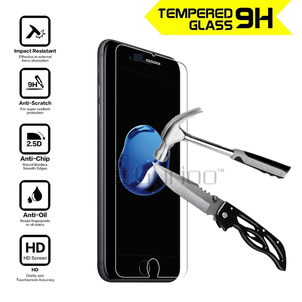 Tempered Glass Screen Protector Film For Apple Iphone 4 4s 5 5s 5c 4g 6 6s Plus Se 7 Anti Shatter Guard 033mm 9h Scratch In Phone Protectors