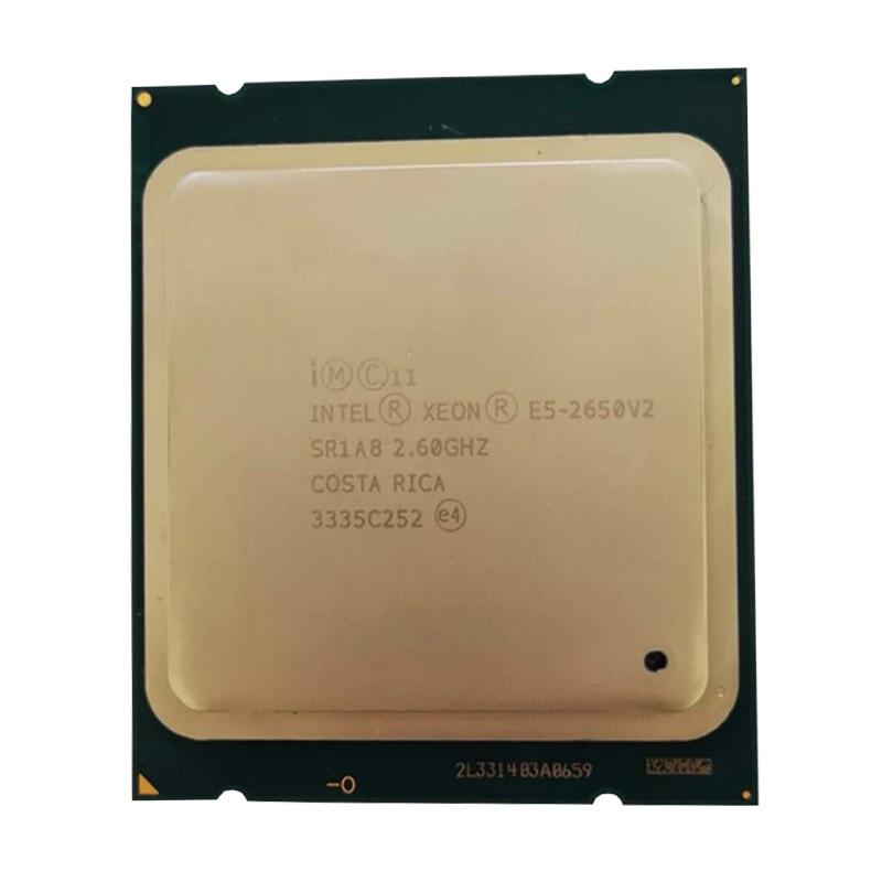 Processeur Intel Xeon E5 2650 V2 CPU 2.6 GHZ LGA 2011 SR1A8 Octa processeur d'ordinateur de bureau 2650v2 cpu
