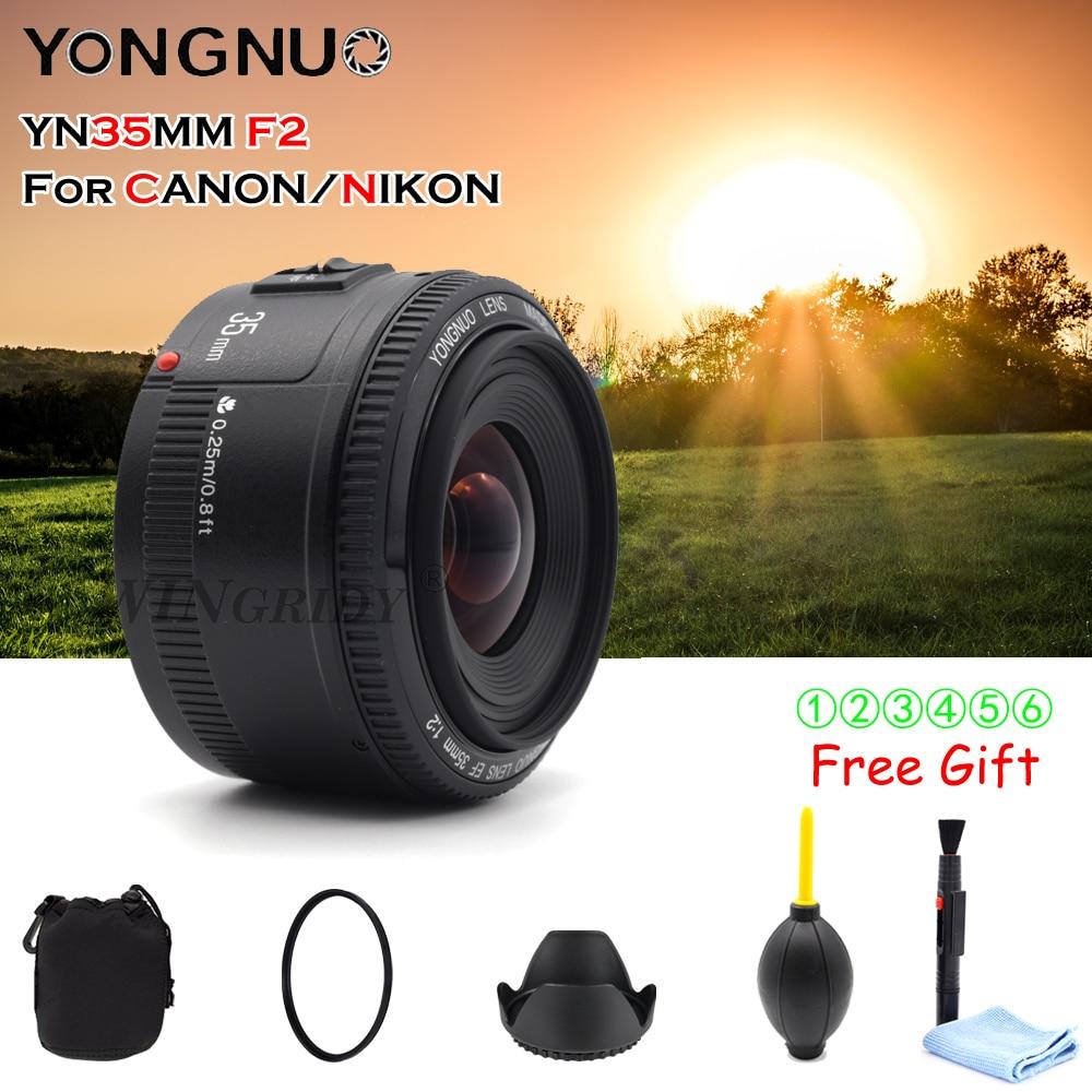 Image 2 - YONGNUO YN 35 مللي متر F2 كاميرا عدسات لنيكون كانون EOS YN35MM العدسات AF MF واسعة زاوية عدسة ل 600D 60D 5DII 5D 500D 400D 650D 6D 7Dlens for canon 600d35mm lenslens for canon -