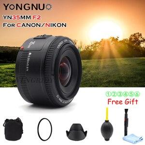 Image 2 - YONGNUO YN 35mm F2 kamera nikon için Lens Canon EOS YN35MM lensler AF MF geniş açı Lens 600D 60D 5DII 5D 500D 400D 650D 6D 7D