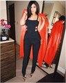 Высокое Качество Сексуальная На Складе черный Новые 2016 Кайли Дженнер Мода Тощий Бренд Sexy HL Бинты Комбинезон Женщины Боди
