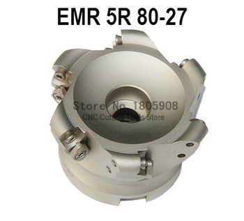 Free Shopping EMR-5R-80-27-6T Face End Milling Cutter Indexable Flat Roughing Cutting ,CNC Milling Cutter