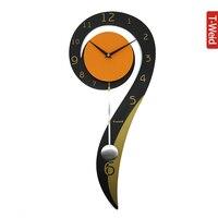 Персонализированные моды часы Деревянный арка гамак настенные часы краткое молчание часы