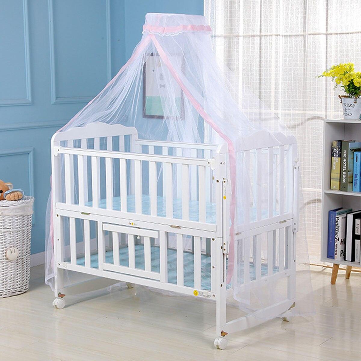 1* москитная сетка Горячая Детская кровать противомоскитная сетка купол штора-сетка для детская кроватка Навес синий розовый желтый цвет
