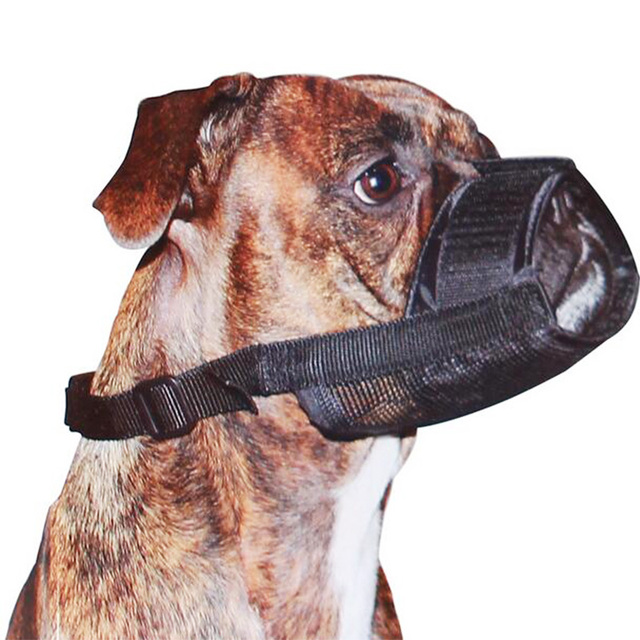 Hot Sale Soft Nylon Material Pet Mouth Mask Pet Puppy Muzzle for Small and Large Dogs