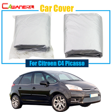 Cawanerl Free Shipping ! Car Cover Outdoor Anti UV Sun Snow Rain Resistant Cover For Citroen C4 Picasso