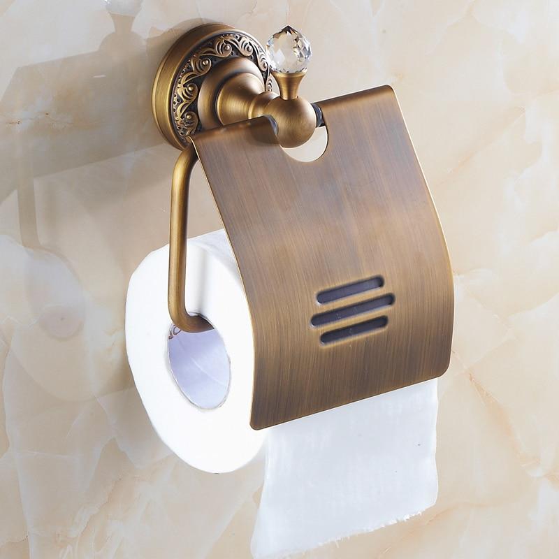 ③Boîte de Tissu en laiton Polonais De Luxe Or Porte Papier Toilette ...