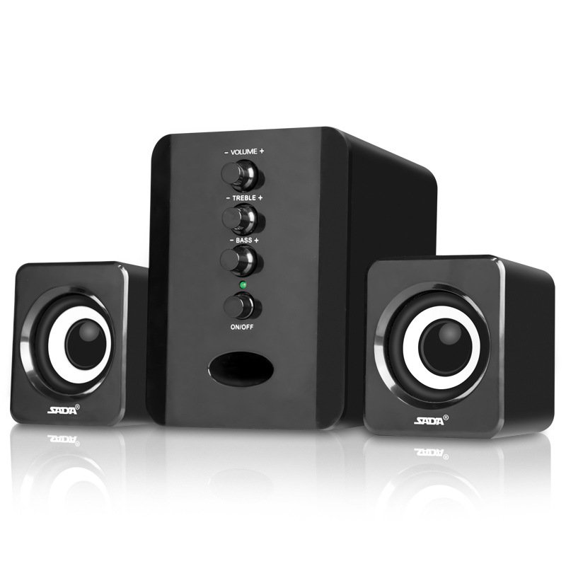 USB Powered 3.5Mm Audio Woofer Speaker ,2.1 Stereo Mini Portable Bass Deep Speaker For PC Computer Smartphone MP3 Home Office
