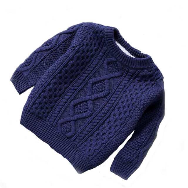 Child 2016 plus velvet thickening sweater male sweater o-neck twisted solid color pullover sweater