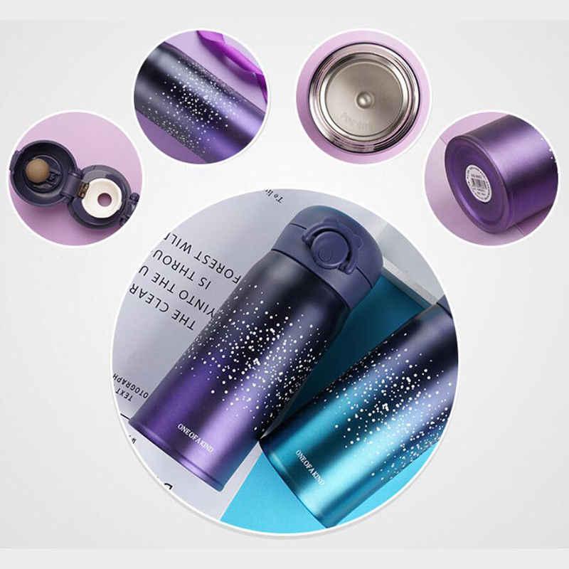 Vácuo de aço inoxidável isolado garrafa de água bebidas garrafa térmica viagem caneca chá café garrafa térmica copo de água 350ml e 500ml