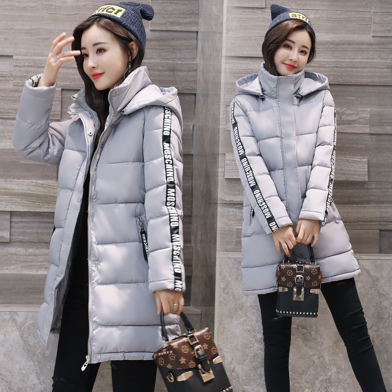 QIMAGE Causal Big Size Women Down Cotton Jacket Coat 2017New Female Thick Warm Winter Parkas Ladies Basic Coat Winter Outwear qimage women winter jacket coat 2017 long thick padded cotton jacket female hooded warm down outwear silm parkas womens clothing
