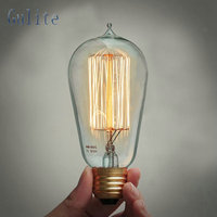 Lightinbox цена оптовой продажи 40 шт E27 40 Вт Ретро Эдисон Стиль лампочки ST58 вольфрама lamp220V накаливания Винтаж лампы