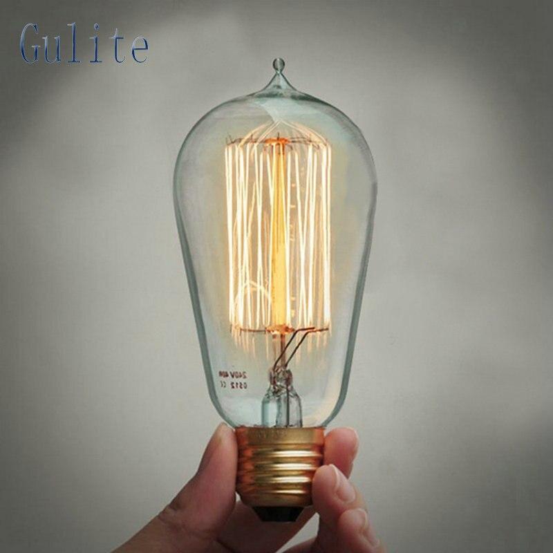 Lightinbox Gros Prix 40 pièce E27 40 W Rétro Edison Style Ampoules ST58 de tungstène lamp220V À Incandescence Vintage Ampoule
