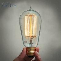 Lightinbox Wholesale Price 40piece E27 40W Retro Edison Style Light Bulbs ST58 tungsten lamp220V Incandescent Vintage Bulb