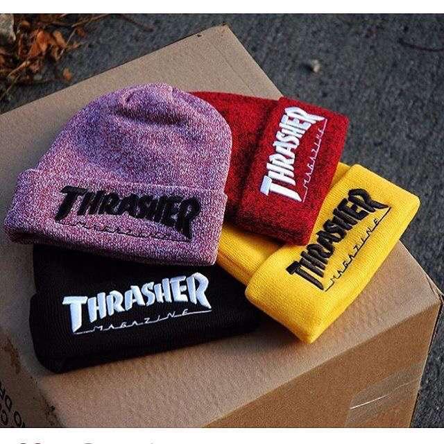 2016 мужские Зимние Шапки Thrasher Хлопок Теплый Трикотажные Мужчины Женщины Горячая Хип-Хоп Мужчины Женщин Повседневная Hat Женские Шапочки # CAP6A47