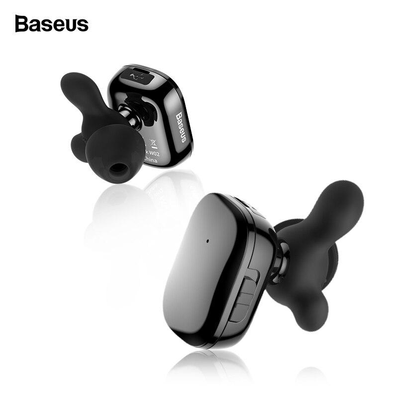 Baseus TWS auricular Bluetooth para el teléfono en la oreja los Dual inalámbrica auriculares con micrófono inteligente táctil manos libres de auriculares