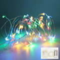 Battery powered 5M 50 leds copper led string waterproof with Remote controller 8 modes holiday wedding outdoor lighting