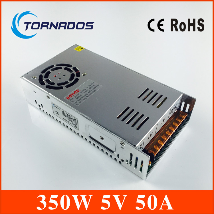 Constant voltage 5V 50A dc regulated power supply 350w Switching power supply 5v 350W S-350-5 CE and ROHS approved s 350 5 cooling fan ac to dc switching power supply 50a 5v power supply 350w