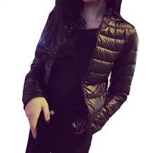Autumn Winter Down Coat Women Parkas Casual Jacket Slim Hooded Padded Outerwear