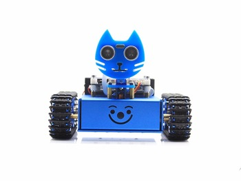 KitiBot, Starter Robot, Graphical Programming, Tracked Version designed for STEAM educ comes with graphical programming software