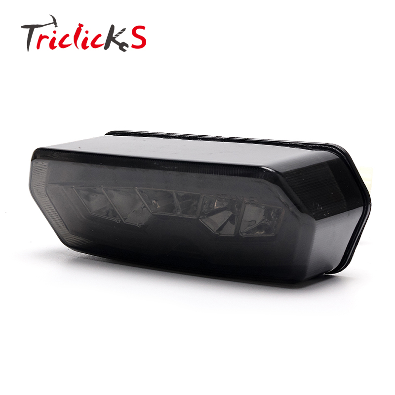 Triclicks 57W Integrated LED Tail Turn Signal Lights Motorcycle Rear DRL Brake Light Smoke Lens For Honda Grom 125 MSX 2014-2016 Honda Grom
