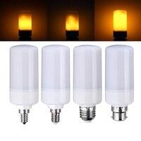 三つのモード炎効果ledランプ電球e27/e26/e14/e12/b22装飾ランプちらつきを燃やす発射ledトウモロコシ電球220ボルト110ボル